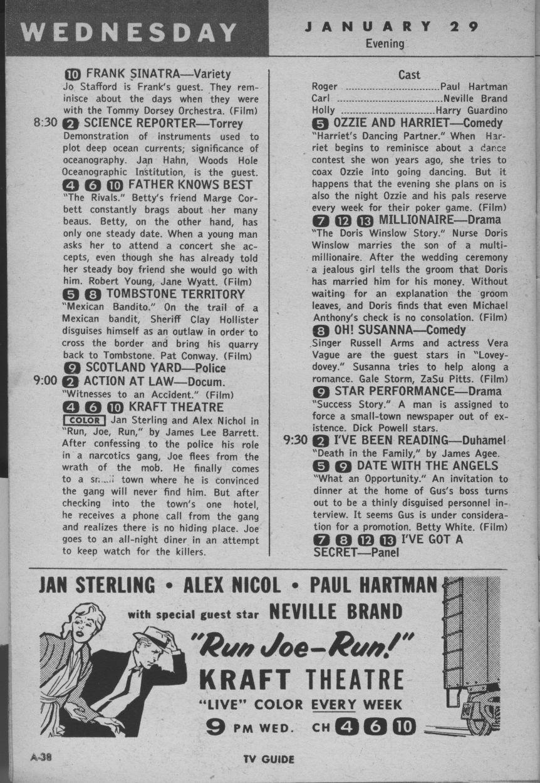 CTVA - US TV Listings - 1958
