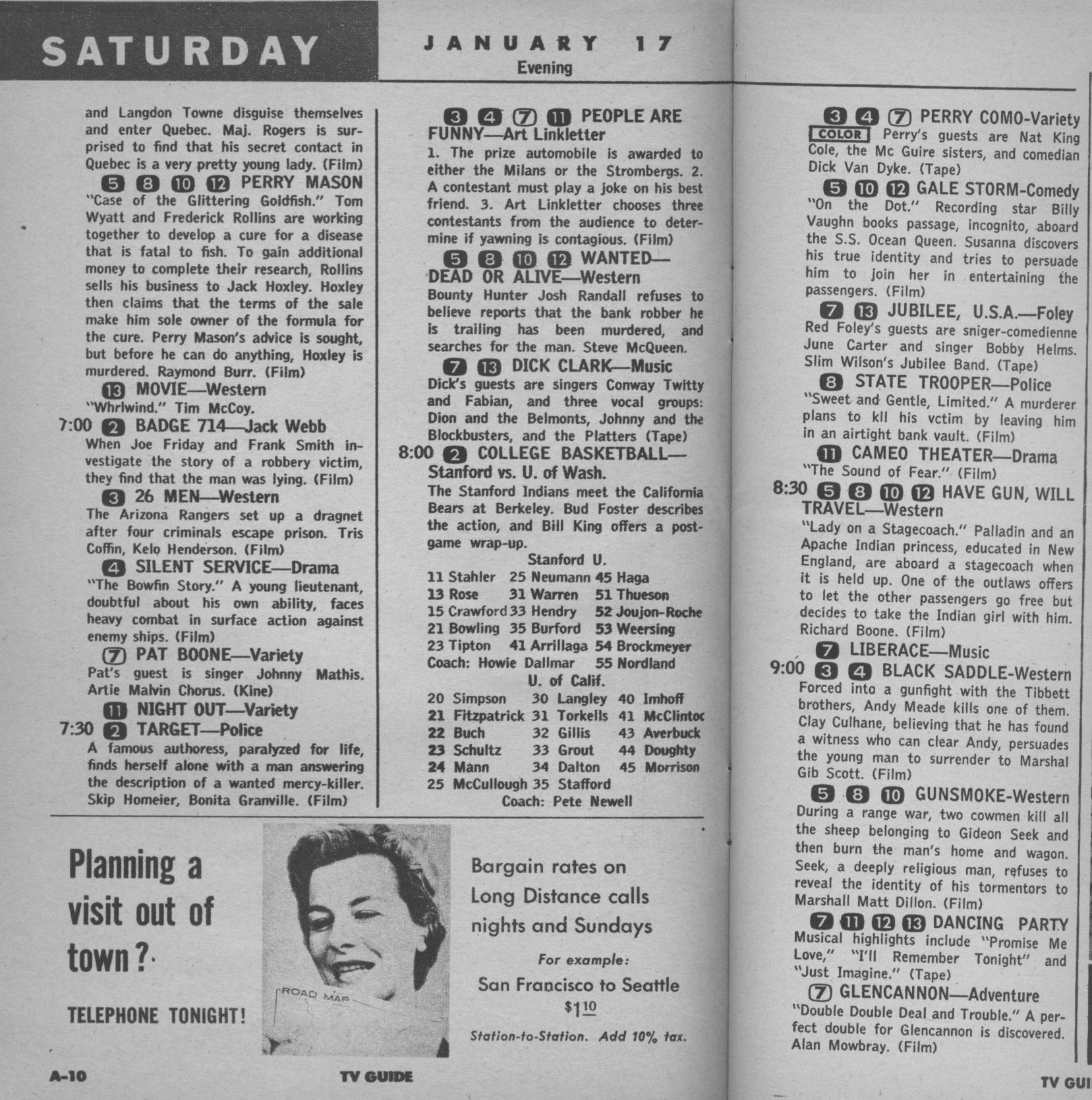 ctva - us tv listings - 1959