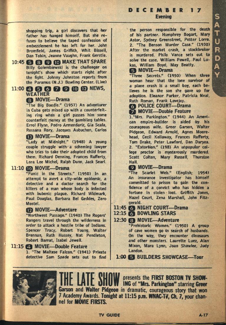 CTVA - US TV Listings - 1960