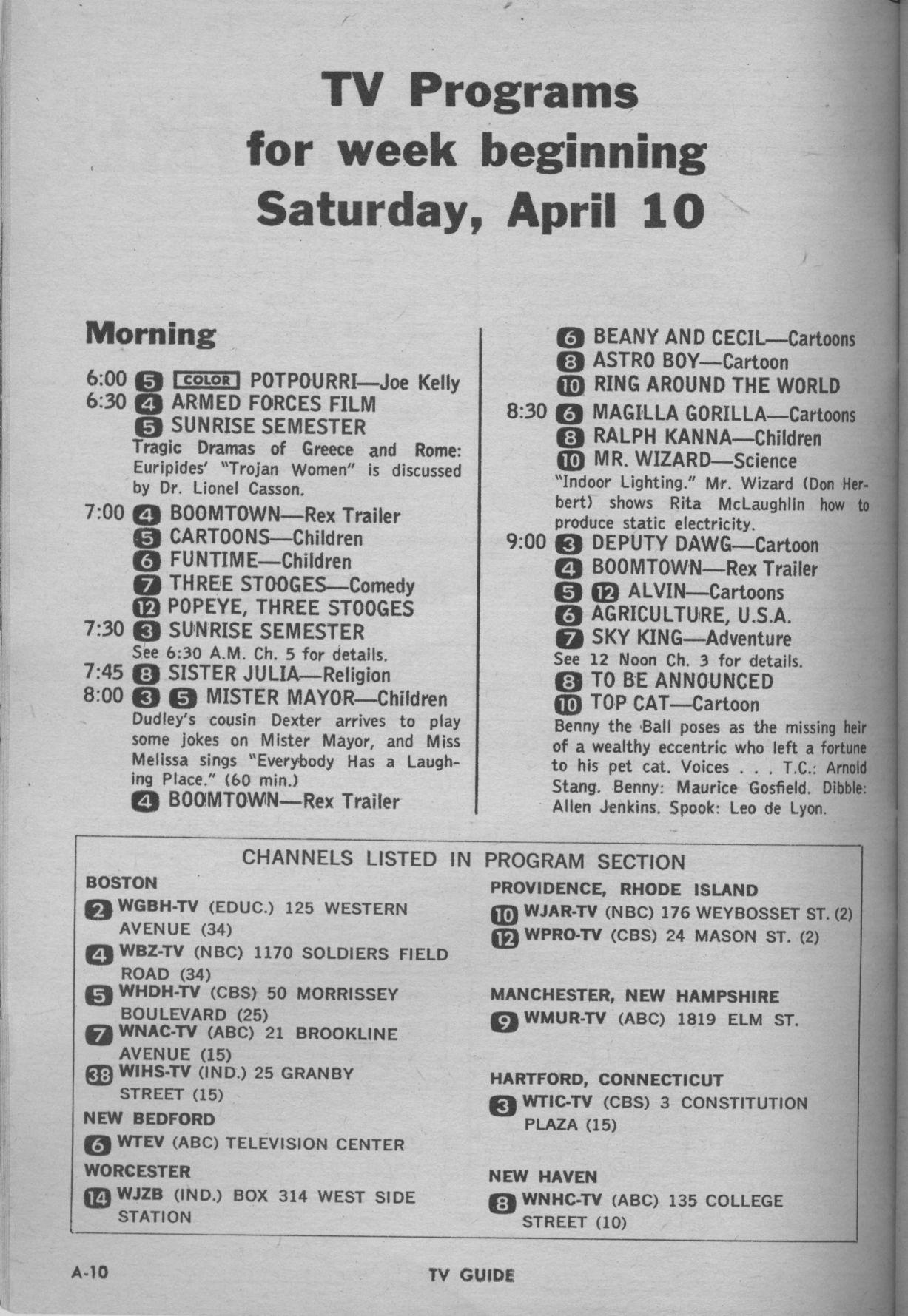 TVG 1965 04 10 Sat 0600 Channels