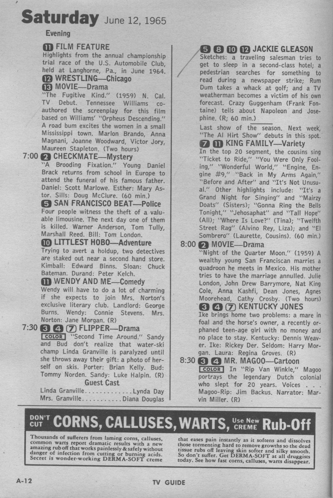 CTVA - US TV Listings - 1965