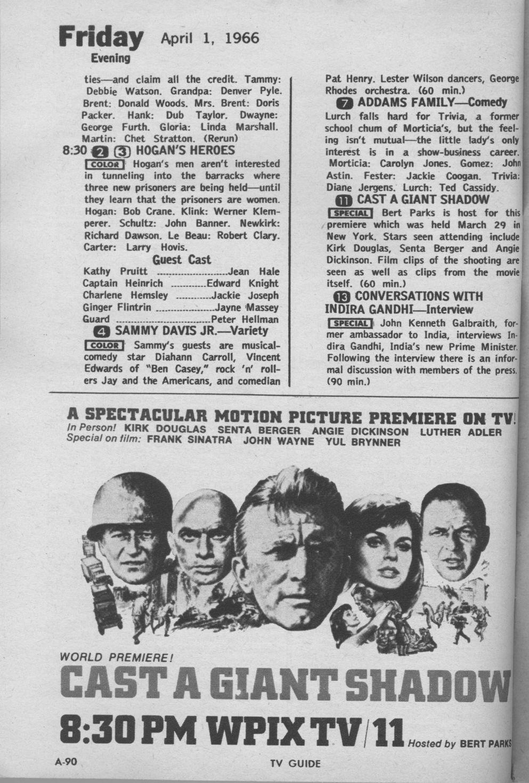 ctva - us tv listings - 1966