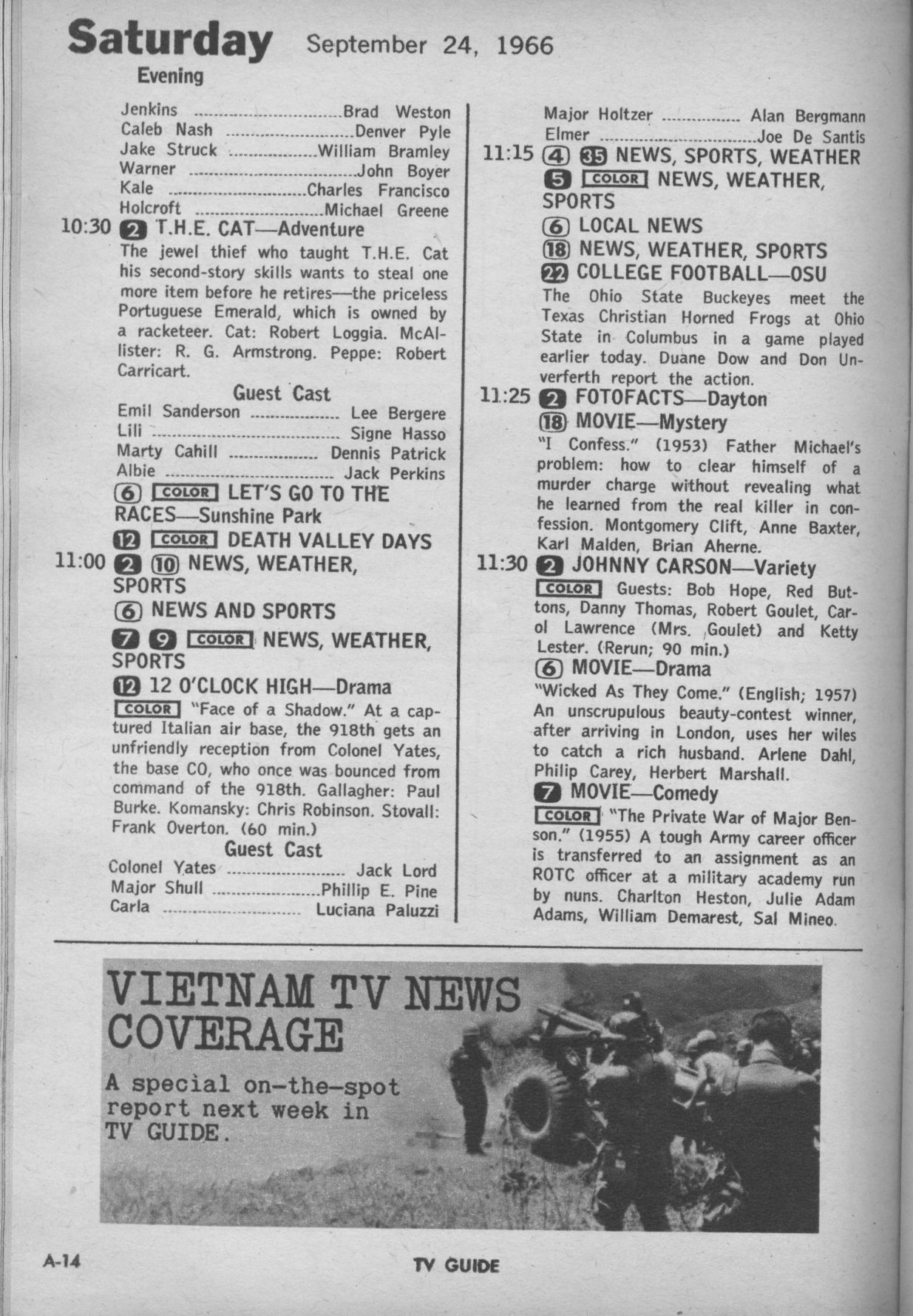 CTVA - US TV Listings - 1966