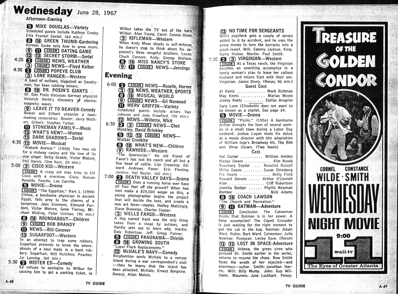 CTVA - US TV Listings - 1967